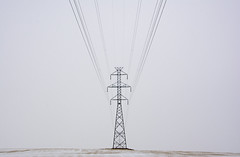 The nature of power (Len Langevin) Tags: power electric electricity grid transmission wires winter alberta canada prairie nikon d7200 tokina 1224 overcast symmetry