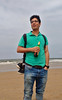 (Debarshi Ray) Tags: netherlands hague motorola motog summer city beach scheveningen friend portrait green yellow sea northsea waves water surf grey cloudy sky jeans blue black shoes beer hair glasses spectacles tshirt handsome happy smile watch