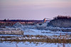 Snowy Quarry at Sunset (thatSandygirl) Tags: carey ohio industry snow quarry field rocks hills trees rural outdoor light sunset sunlight winter january snowy stone gravel landscape sky