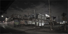 ** DEAD END NIGHTS** (Rich Zoeller Photography) Tags: richzoeller zoeller thatkidrich tkr night nightphotography deadend freight railroad tracks graffiti streetart ftr jerms gems pace swk shadows ny nyc newyorkcity buildings sky clouds canon explore brooklyn
