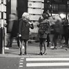 Not really the place for a chat..... (markwilkins64) Tags: blurring blurred blurry movement motion motionblur scarf leggings theatreland rushhour city urban blur shadows winter chatting chat women zebracrossing crossing zebra london coventgarden mobile street streetphotography blackandwhite bw mono monochrome