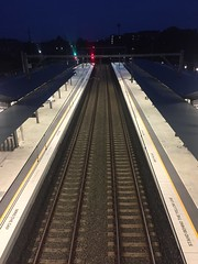 Concord west train station (Simon_sees) Tags: evening night tracks station train