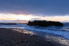 Flock of Seagulls (sleepnever) Tags: ocean water waves beach sand rocks sky clouds sunset seagulls whidbeyisland deceptionpassstatepark washington 1635f4l robertwatts