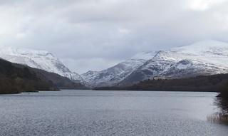 6938  Llyn Padarn and a snow covered Eryri