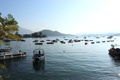 Boats In Line (aristhought) Tags: hongkong nature scenery landscape water boats coast pier ocean