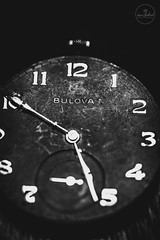 IMG_4828logo (Annie Chartrand) Tags: watch pocketwatch time clock macro movement numbers dial face hands stilllife antique old classic bulova shiny shadow jewelry monochrome black white bw patina rustic