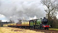 4-6-0 B12 Class 8572 at the GCR (Nigel B2010) Tags: lner gcr nnr b12 460 steam smoke tracks coaches clouds bridge woodthorpe winter february olympus omd em1 1240f28 railway loughborough leicestershire