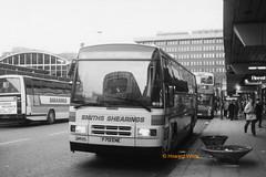 Shearings 701 (F701 ENE) (SelmerOrSelnec) Tags: shearings leyland tiger plaxton f701ene manchester piccadillybusstation parkroyal monochromatic blackandwhite bus coach