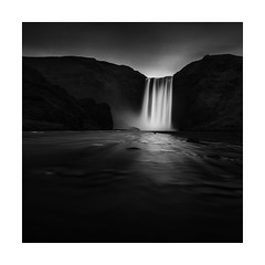 Flow (Nick green2012) Tags: blackandwhite longexposure square waterfall iceland flow