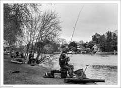 Bream Fishermen 23/365 (John Penberthy ARPS) Tags: 23jan18 365the2018edition 3652018 d750 day23365 johnpenberthy kingstonuponthames nikon thames blackandwhite fisherman mono monochrome river water
