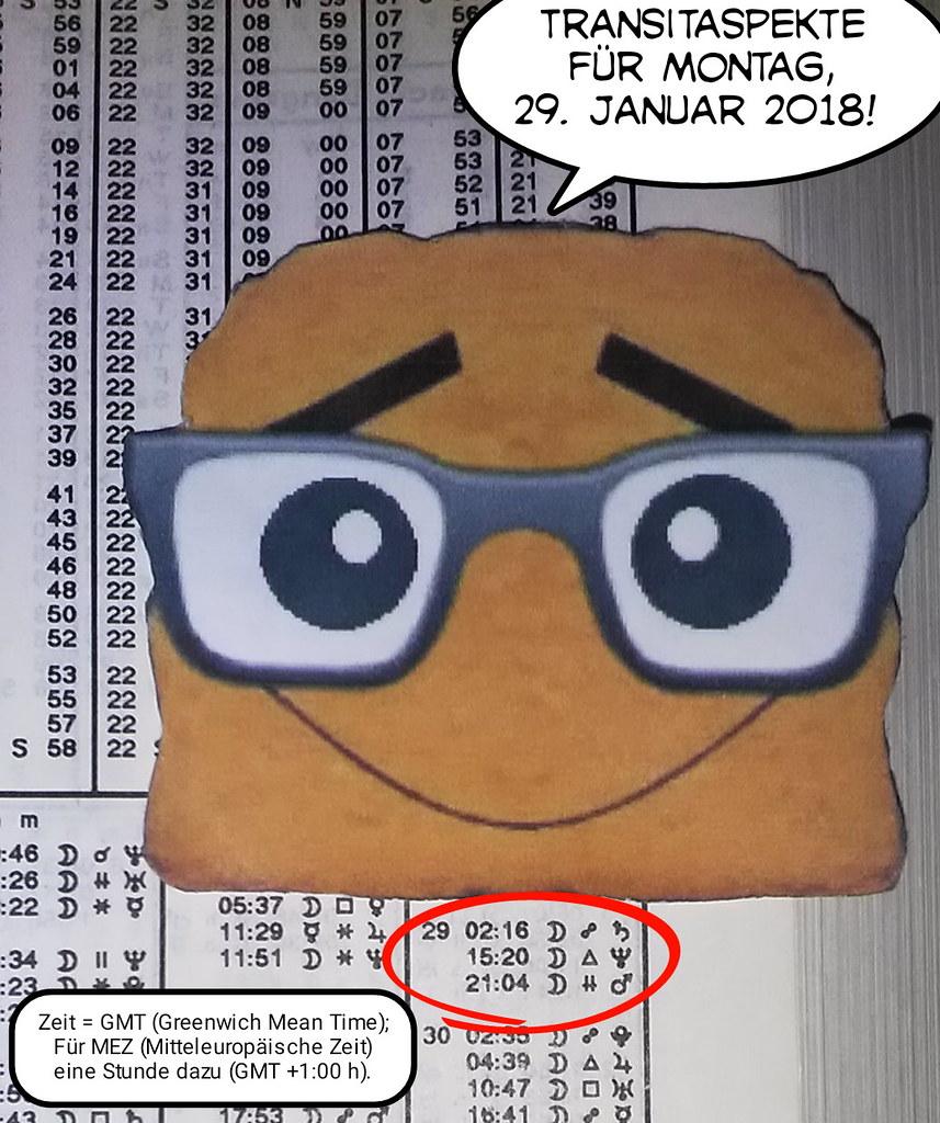Ephemeriden für Montag, 29.01.2018