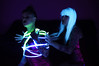 Black Light Shibari (Beo Beyond) Tags: shibari blacklight bondage bdsm ultraviolet fluorescent uv glowinthedark neon shibarishow