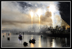 Fireworks_9074 (bjarne.winkler) Tags: 2017 new year firework over sacramento river with ziggurat building background