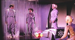 """Cal and Ruth are sealed in tubes to offset pressure differences between planets. Exeter looks on. """"This Island Earth"""" (1955) (lhboudreau) Tags: fiction sciencefiction sciencefictionstory 1955 story film movie motionpicture classicsciencefiction vintage classic scifi scififilm scifimovie universal universalpicture universalstudios universalpictures screenshot sciencefictionfilm sciencefictionmovie spaceship ufo flyingsaucer calmeacham rexreason exeter jeffmorow jackarnold josephmnewman thisislandearth islandearth franklincoen edwardgocallaghan faithdomergue ruthadams tubes glasstubes"""