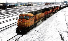 (timetomakethepasta) Tags: bnsf train tanker line engine locomotive selkirk new york photography winter cold snow outdoors