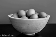 Eggs (Rebecca Leyva) Tags: geometric geometry interesting plain wood chicken simplistic bw wooden bowl hen hens chickens organic stilllife chef cook cooking simple blackandwhite breakfast kitchen egg food eggs