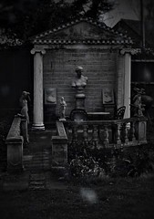 (_Evi_) Tags: timeless bw cold stone bnw found statue garden lost