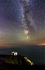 Castle And The Sky (Rob Pitt) Tags: ellins tower milky way south stack stars tokina 1116 f28 iso3200 astrotography north wales cymru lighthouse 750d canon outdoor