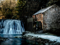 Rutter Mill - Cumbria (Andy & Helen :-) :)) Tags: ruttermill waterfall mill dawn hoffbeck cumbria valeofeden