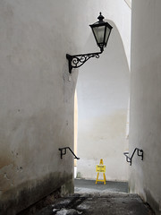RUTSCHGEFAHR . DANGER OF SLIPPING (LitterART) Tags: rutschgefahr treppe escalier stiege stairway steiermark nikon