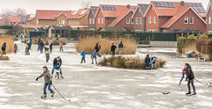 Fun on ice (stevefge) Tags: 2018 beuningen ice frost skaters skating winter boys girls kids children people candid street ijs ijspret hockey houses nederland netherlands nl nederlandvandaag gelderland fun unsuspectingprotagonists