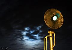 Night Searchlight (Patrick Dirden) Tags: signal searchlight searchlightsignal railroadsignals light moon clouds dark night nightphotography rail railroad up unionpacific unionpacificrailroad upmartinezsub davis davisca yolocounty sacramentovalley centralvalley northerncalifornia california
