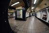 Solitary traveller... (The all seeing i) Tags: underground camden station tube london flickr fujifilm samyang 8mm fisheye