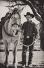 Cowboy Ranch Hand and His Horse (Maureen Medina) Tags: maureenmedina artizenimages portrait cowboy ranchhand rancher horse hat working sepia monotone