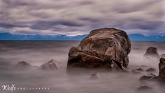 fog rock (Aaron_Smith_Wolfe_Photography) Tags: blur waves windy longexposure water lake sierranevada laketahoe rocks