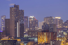 Riverside Plaza (Sam Wagner Photography) Tags: riverside plaza high rises minneapolis minnesota telephoto zoom close up compression long exposure cityscape city twilight blue hour winter midwest buildings texture housing population layers urban metropolis modern lights