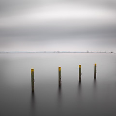 This Peaceful January Sunday (panfot_O (Bernd Walz)) Tags: lake waterscape marina poles longexposure fineart minimalistic minimalism silence calmness peaceful
