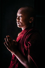 In the Shadows (Trent's Pics) Tags: taung pi bagan buddha buddhist lifestyle monastery monk myanmar people portrait spiritual temple village