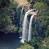 Waterfall (Jakub Chodounsky) Tags: waterfall nature landscape green newzealand nz northisland kodak ektar100 yashica matlm 120mm 6x6