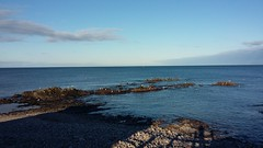 Out to sea, Moray Coast, Buckie, Feb 2018 (allanmaciver) Tags: buckie seatown sea moray coast rocks flat blue shades clouds shadows walk enjoy bracing wind cold fishing town north allanmaciver