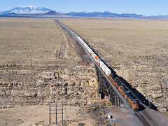 BNSF 5321 East at Canyon Diablo, AZ (thechief500) Tags: bnsf canyondiablo railroads seligmansubdivision aerialrailroadphoto az usa us arizona arizonadivide