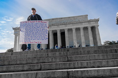 Message (jonathan.scaife81) Tags: protest candid guy man washington dc usa politics trump donald american lincoln memorial maryland district columbia samsung nx300 18200 united states street