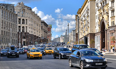 moscow traffic (poludziber1) Tags: street streetphotography skyline summer sky city colorful cityscape color colorfull capital clouds traffic travel urban car russia moskva moscow