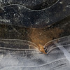 Ice lines (Ali's view) Tags: ice puddle leaf winter bubbles water crack solid curves lines cold frost magicunicornverybest