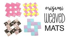 Origami Weaved Mats Tutorial - Coasters / Placemats - Paper Kawaii (paperkawaii) Tags: origami instructions paperkawaii papercraft diy how video youtube tutorial