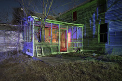 Abandoned Home (Notley Hawkins) Tags: rural missouri notley notleyhawkins 10thavenue httpwwwnotleyhawkinscom missouriphotography notleyhawkinsphotography lightpainting bluelight greenlight blue green night nocturne 光绘 光繪 lichtmalerei pinturadeluz ライトペインティング प्रकाशपेंटिंग ציוראור اللوحةالضوء abandoned sky longexposure ruralphotography trees chartitoncountymissouri windows red redlight rgb outdoor serene architecture house riverbottoms missouririverbottoms home 2018 march facade