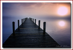 Misty Morn.. (Deek Wilson) Tags: loughneagh jetty woodenjetty water ripples northernireland ulster lough sunrise for landscape seascape mist misty foggy