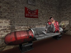 The Torpedo (ScottSilverdale) Tags: scottsilverdale mancave gym boxingring loft torpedo sofa failureisnotanoption hoodie sweatpants secondlife sl chilling