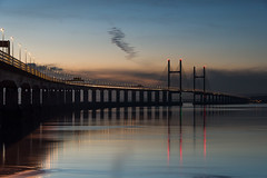 Gateway (Arvor Photography) Tags: 2018 afonhafren ailgroesfanhafren arvorphotography darylhutchinson england gatewaytowales landscapephotography m4 m4motorwaybridge riversevern secondseverncrossing uk wales bridge cablestayedbridge nopeople river sunset