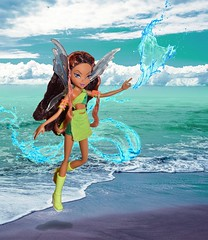 Layla, fairy of oceans and waves. 💦 (dollstudio92) Tags: africanamerican aa collector fairies magic ocean two 2 season mattel doll fairy water aisha layla club winx