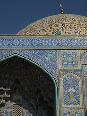 P9254684 (bartlebooth) Tags: esfahan esfahanprovince isfahan isfahanprovince iran persia middleeast mosque masjid sheikhlotfollahmosque sheikhlotfollah unesco tile blue iranian architecture naqshejahansquare mosaic olympus e510 evolt silkroad