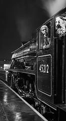 """Awaiting The Green"" Black 5 45212 (Liam60009) Tags: eastlancashirerailway elr steam steamlocomotive steamtrain steaming eastlancsrailway diner diningwithdistinction diningtrain 45212 black5 blackfive stanier locomotive 5212 driver footplatecrew sony sonya7rii a7rii monochrome blackandwhite bw br britishrailways railway station rawtenstall rawtenstallstation"
