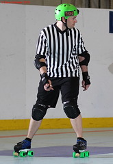 IMG_8402 crop 1 (KORfan) Tags: rollerderby barbedwirebetties cabinfeverscrimmage referees officials