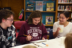 Teen Lock In; Pizza and Paintbrushes, MV 1.26.18 (slcl events) Tags: teens teen teenprogram slcl slclorg stlouiscountylibrary meramecvalleybranch meramecvalley art painting canvaspainting teenlockin pizzaandpaintbrushes library libraryprogram diversity diverseteens