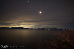 Lunar Eclipse over Tahoe (Aaron_Smith_Wolfe_Photography) Tags: laketahoe nevada sierra mountains lake stars nikon 20mm lunareclipse supermoon bloodmoon