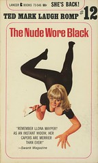 Lancer Books 73-546 - Ted Mark - The Nude Wore Black (swallace99) Tags: lancerbooks vintage 60s spy satire paperback